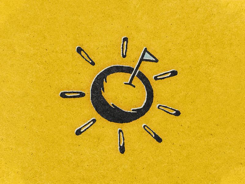 Sunshin sticker gig poster 36daysoftype 36days-o illustration texture vintage retro punk indie new politics flag sunshine sun