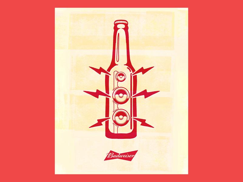 Budweiser - João Rock 2019 old school retro vintage wheatpaste lambe lambe punk indie rock budweiser beer gig poster gigposter gig poster joão rock texture music festival