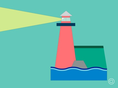 Weekly Illustrations   Series 007   #035 dreams lighthouse sketch flat daily concept clean vector minimal illustrator illustration graphic design