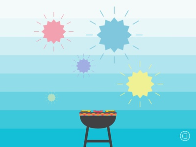 Weekly Illustrations   Series 008   #038 graphic design illustration illustrator minimal vector clean concept daily flat sketch holiday fourth of july