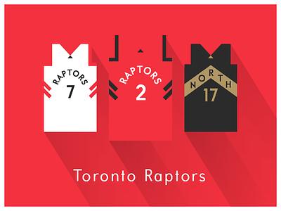 NBA Fan Art: Toronto Raptors uniforms basketball nba illustrator art illustrator graphics graphic art vector art flat illustration minimal design illustration graphic design