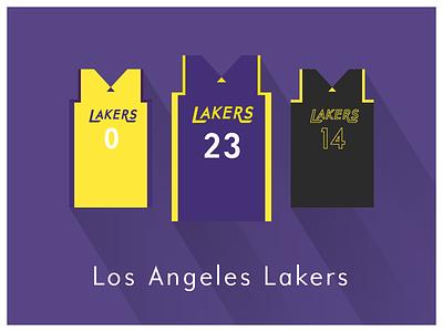 NBA Fan Art: Los Angeles Lakers uniforms basketball nba illustrator art illustrator graphics graphic art vector art flat illustration minimal design illustration graphic design