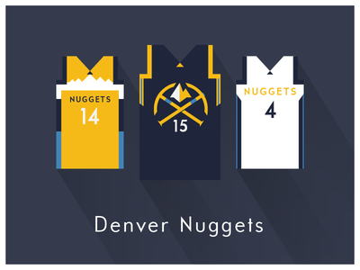 NBA Fan Art: Denver Nuggets uniforms basketball nba illustrator art illustrator graphics graphic art vector art flat illustration minimal design illustration graphic design