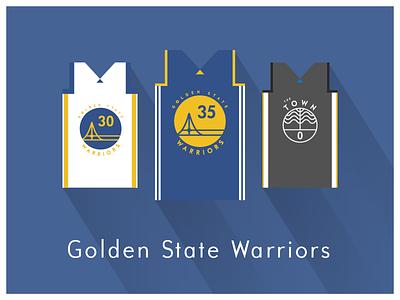 NBA Fan Art: Golden State Warriors uniforms basketball nba illustrator art illustrator graphics graphic art vector art flat illustration minimal design illustration graphic design