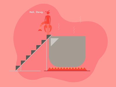 Setting Boundaries self care vector digital art minimal design graphics illustration of the day vector art flat illustration illustrator illustration graphic design