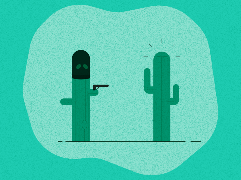 Cactus On Cactus Crime By Jeremy Mccloud On Dribbble