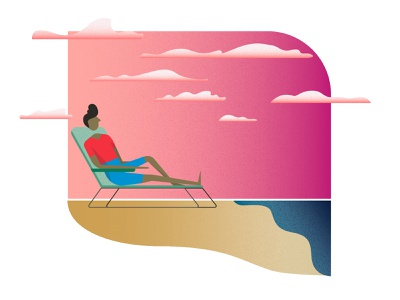 The Importance of Relaxing graphics illustrator graphic design illustration vector inspiration motivation mindfulness relax beach