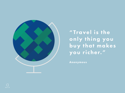 Inspirational Quotes: Globetrotting inspirational quote world travel globe vector minimal design flat illustration vector art illustrator illustration graphic design