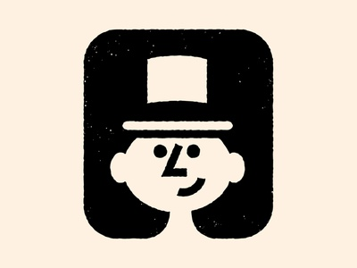 Person Mark graphic design design identity hat logo hat face logo person branding brand vector logo clean