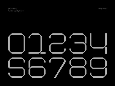 Number Type Exploration flat number number logo number design numbers graphic design identity branding brand vector logo clean