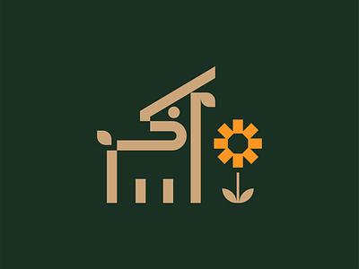 Deer Mark flat minimal design graphic design brand vector logo clean color schemes color scheme deer logo nature logo nature mark