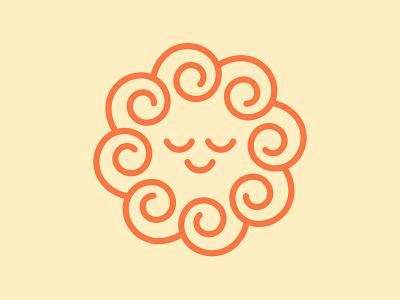Calm minimal flat circular logo circular shape circle logo sun logo swirl logo swirl vector clean smiley calm mark calm logo smile logo logo smile