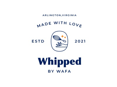 Whipped by Wafa identity branding brand vector clean creative direction brand identity cooking branding cooking brand cooking logo graphic design design logodesign logo
