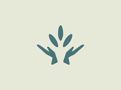 Pesticide Rejected Concept leaf logo hand logo design graphic design crop protection pesticides agriculture identity branding brand logo vector clean