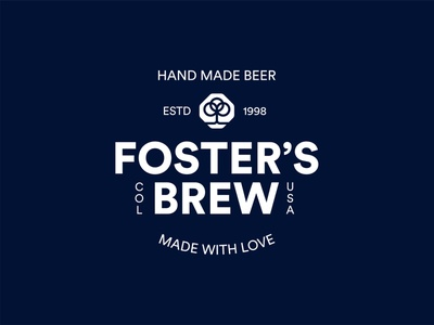 Foster's Brewery vector logo clean beer label usa colorado brewery branding brewery logo brewery beer branding beer logo beer