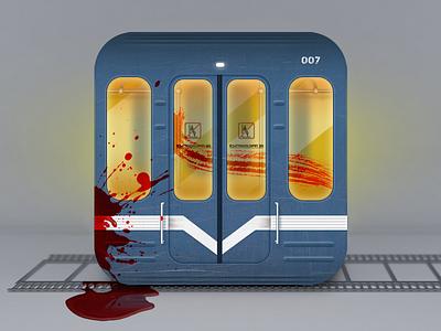Subway app icon funny icon app blood subway
