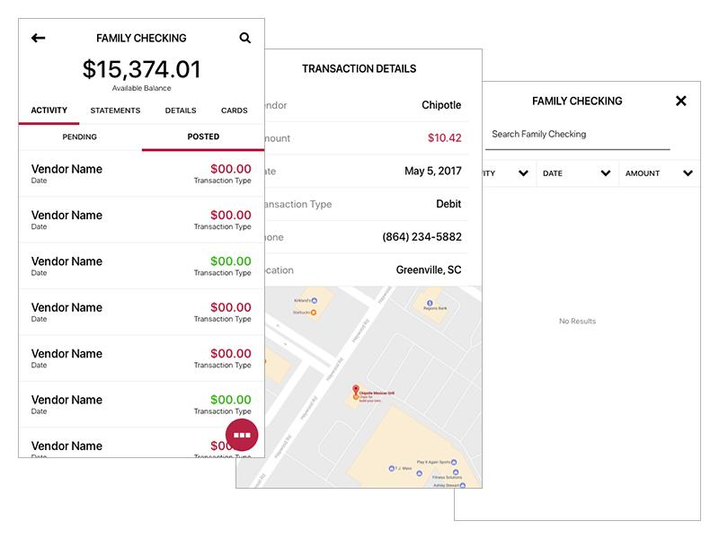 Wells Fargo App - Account Feed - Concept by Gerardo Zayas on