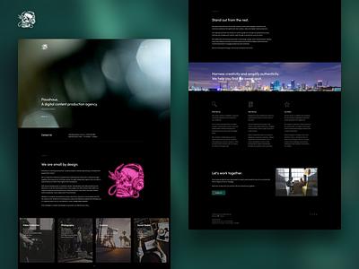 Pauahaus | Landing Page content australia sydney refresh skull website web minimal landing page landing identity digital design agency design dark clean branding brand identity brand agency