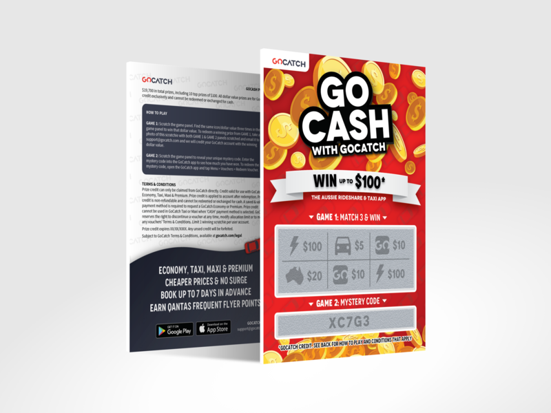 GoCatch Scratch-off Ticket by Alex on Dribbble