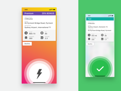 GoCatch Driver App • Trip Offer