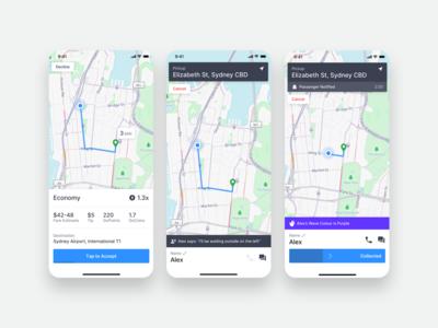 GoCatch Driver App • Trip Offer + Accepted (Concept)