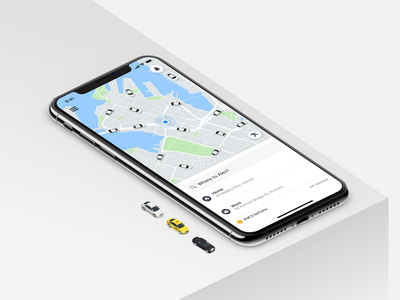 GoCatch Passenger App • Home (Concept) ui travel transport marketplace maas mobility town car taxi booking app ridehailing map app vehicle car taxi chauffeur booking rideshare minimal ios android