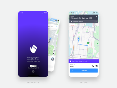 GoCatch Passenger App • Wave (Concept) spotlight vehicle app travel transport taxi booking app route rideshare ridehailing navigation mobility minimal map maas ios driver chauffeur application booking android