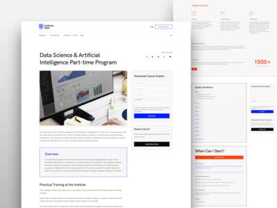 Institute of Data Website • Course