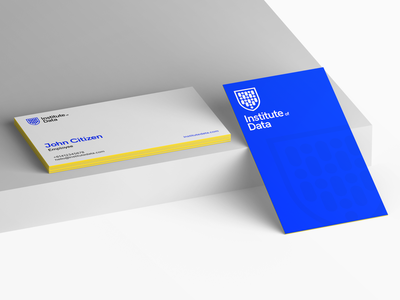 Institute of Data • Business Card students shield australia education education provider university course college ai ml data science mockup business card print business card career services enrolment