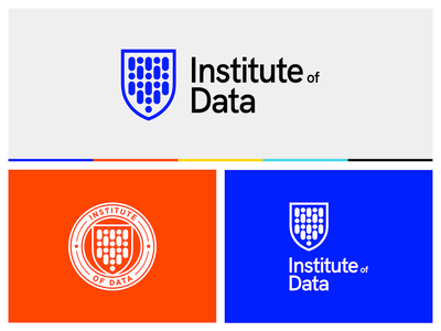 Institute of Data • Brand Identity minimal illustration mark brand wordmark logotype data science logo branding brand identity university education provider education australia people shield seal students