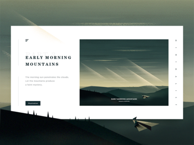 Early morning mountains