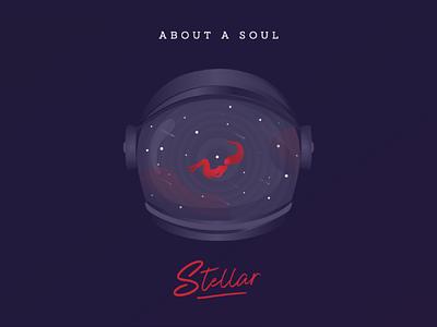 Stellar [single cover] stellardust stellar stars red mission dark blue fluid space galaxy astronaut