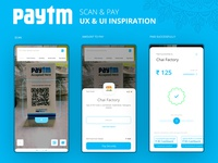 Paytm Scan & Pay UX & UI Inspiration