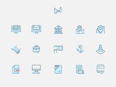 Icon set Employers & Work italy icon illustration icon set ui design web design employers association