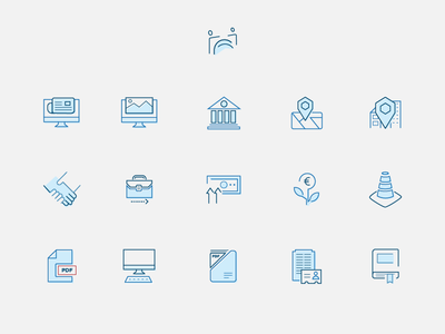 Icon set Employers & Work italy icon illustration icon set ui design web design employers association