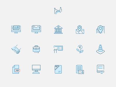 Icon set Employers & Work