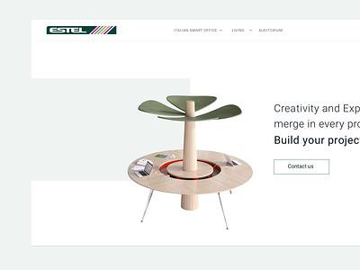 Estel smart office furniture webdesign estel ui design
