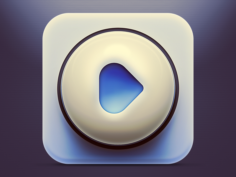 Music App Icon music app icon play heart player music player app icon ios iphone ipad