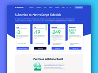 NativeScript.org Pricing