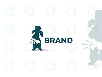 Rabbit Marketing Logo promotion promo design logo advertising ads public relations multimedia media animals animal mascot negative space digital marketers marketer marketing megaphone rabbits rabbit