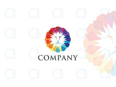 Jewel Lion Logo branding design logo decor media multimedia mascot leo head lions lion colorful diamond gem gems jewellery jewelery jewelry jewels jewel