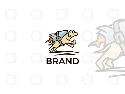 Launch Dog Logo fly jump branding design logo mascot animal pet hound dog marketing digital startup start up booster boost rockets rocket launch