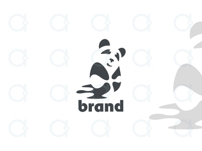 Panda Logo design logo fun dream wet protect care kindergarten kids kid china chinese mascot animals animal cute shy pandas panda