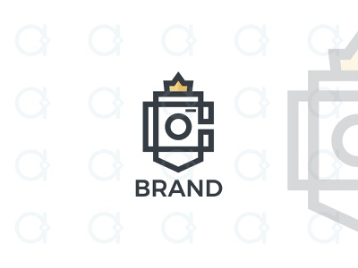 King Camera Logo design logo app portrait capture multimedia digital photographer photography photo picture camera queen royal regal crown kingdom kings king
