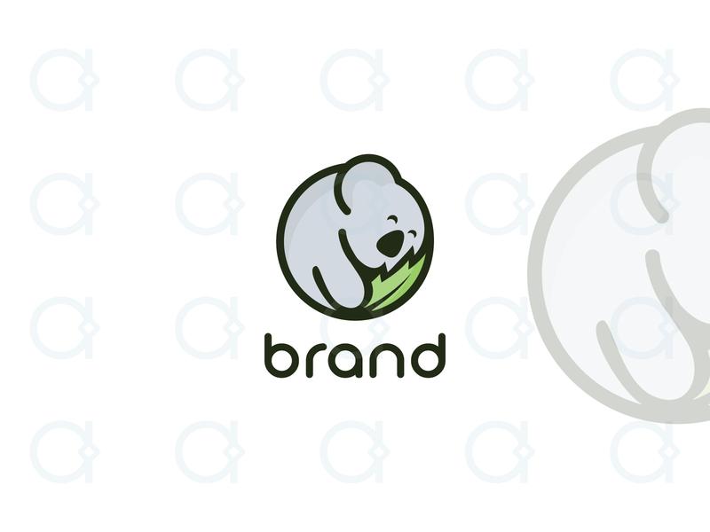 Koala Logo branding design logo kids happy dream sleep mascot animals animal australia aussie veterinary vet healthy health koala