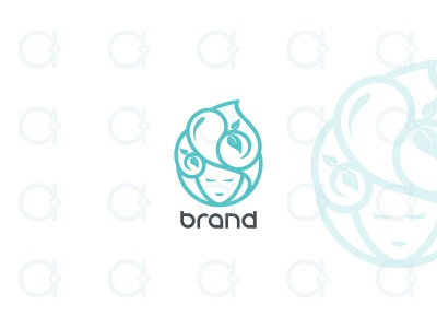Lady Water Logo logo healthcare healing salon spa cosmetic fashion water nature earth mother mom face woman women girl female ladies lady