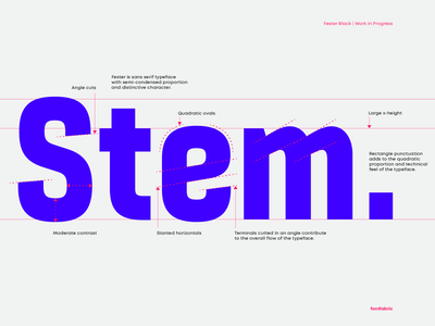 Precision from stem to stern ⚡️ fontfabric creative sneakpeek upcoming workinprogress typegang typography design typeface font fester