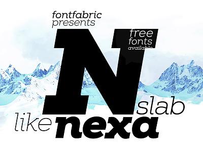 Nexa Slab font typography promo fonts nexa slab poster logo graphic image cool vector