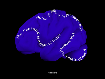 Weekend brain 🧠 3d model 3d mockup 3d 3d animation animation after effects animation design typography inspired type art kinetic typography animated type after effects cinema 4d motion type motion graphics motion design fontfabric typogaphy