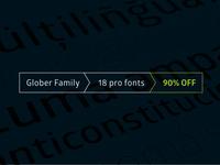 Glober fonts / 90% discount